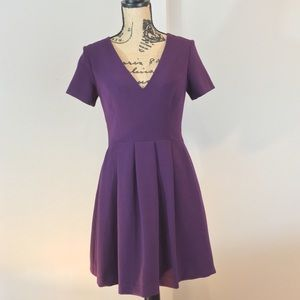 Asos Sz 6 Structured Fit and Flare Plum Dress